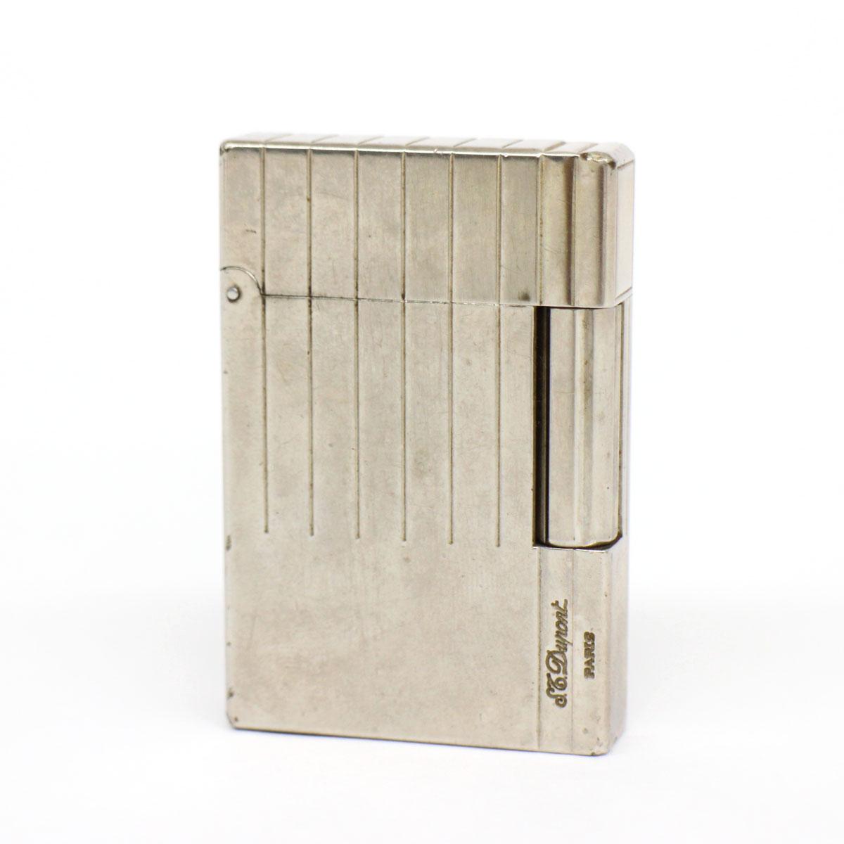 【中古】ジャンク品◆S.T.Dupont ギャッツビー デュポン ガスライター ◆ silver /シルバー