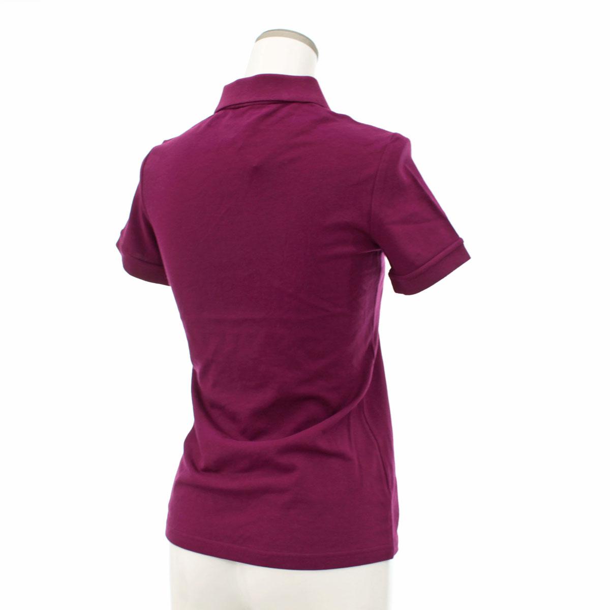 未使用品 BURBERRY LONDON バーバリー ロンドン 半袖ポロシャツ XSサイズpurple紫 パープル 鹿の子 レディース トップスWYD92EeHI