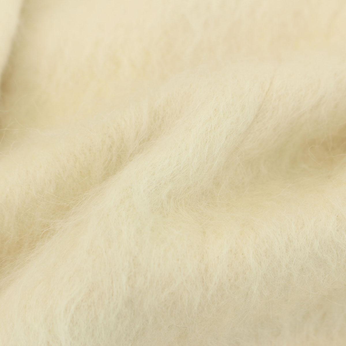 良好 BURBERRY バーバリーブルーレーベル モヘヤ混 シャギー系 コート サイズ38白 ホワイト 裏地チェック ファvN0Owmn8Py