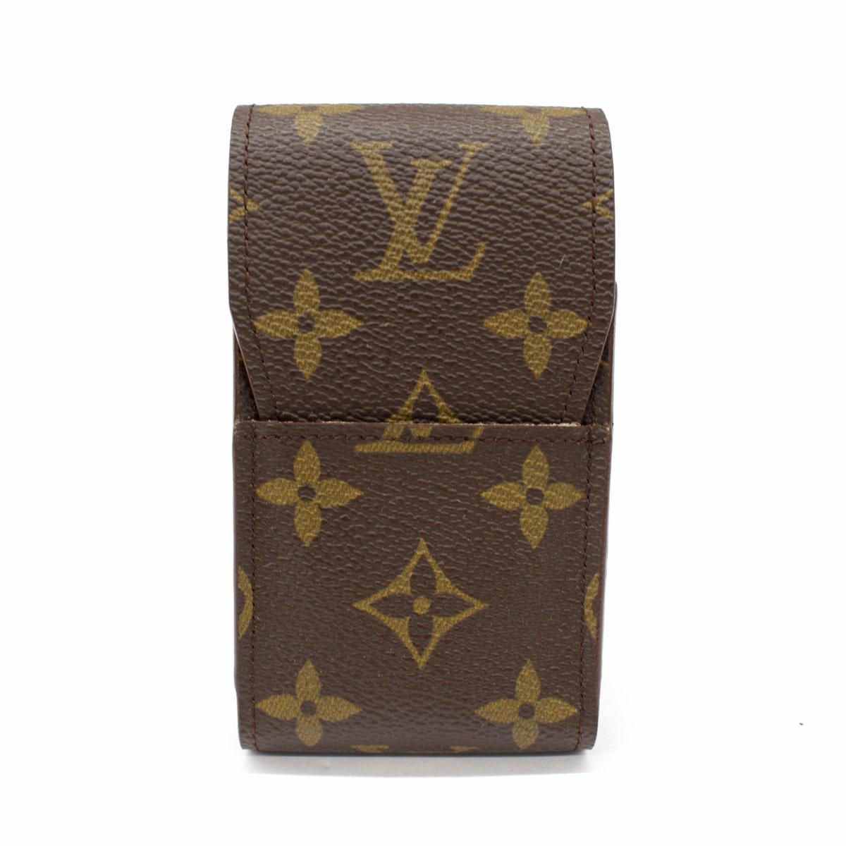 LOUIS VUITTON ルイヴィトン モノグラム 売れ筋ランキング エテュイ 即納 シガレット CT0976 brown 服飾小物 ブラウン 中古 メンズ 茶 レディース 喫煙具