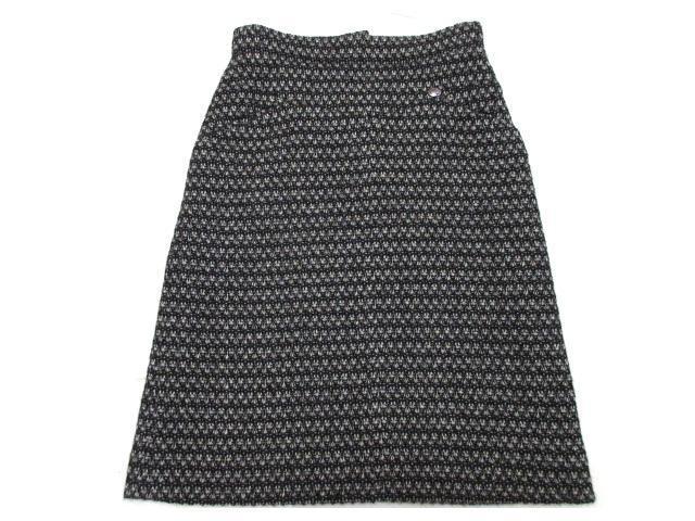 シャネル 10Aウール混ツイード台形スカート CHANEL