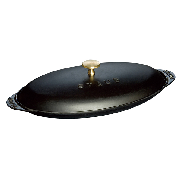 ホーロー鍋 ストウブ フィッシュホットプレート 31cm 黒 0.7L 【メーカー直送/代引不可】