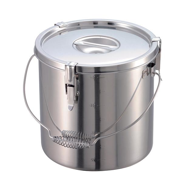 給食缶 18-8 パッキン付寸胴鍋 目盛付 24cm 【メーカー直送/代引不可】