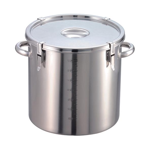 給食缶 18-8 パッキン付寸胴鍋 目盛付 45cm 【メーカー直送/代引不可】