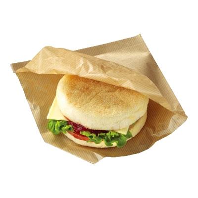 【送料無料】 茶筋ラミバーガー袋 3000枚 (100枚×30袋)【業務用 ハンバーガー お持ち帰り用 テイクアウト 包装紙】【メーカー直送/代引き不可】