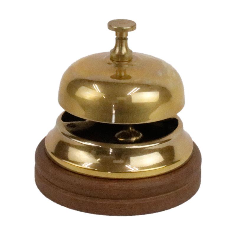 イタリー 高級 レジカウンターの呼び鈴に 直営ストア 真鍮 ベル 呼び鈴 84425 イタリア製 11×11cm おしゃれ