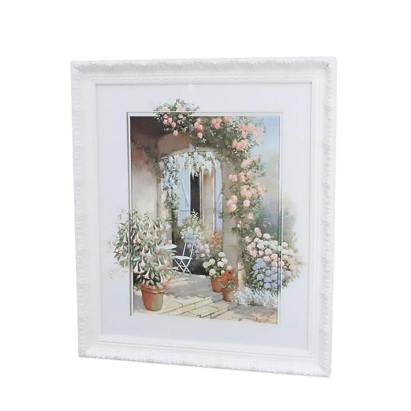 イタリア 額絵 壁飾り おしゃれ 大判 花柄 上品 91644 W60×D3×H70cm インテリア イタリア 雑貨