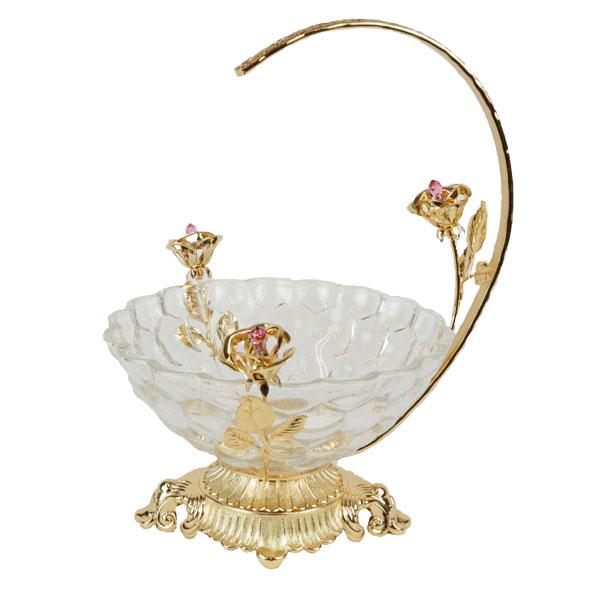 スワロフスキー ガラス コンポート 小物入れ アクセサリートレー 1677 スワロフスキークリスタル ゴールド