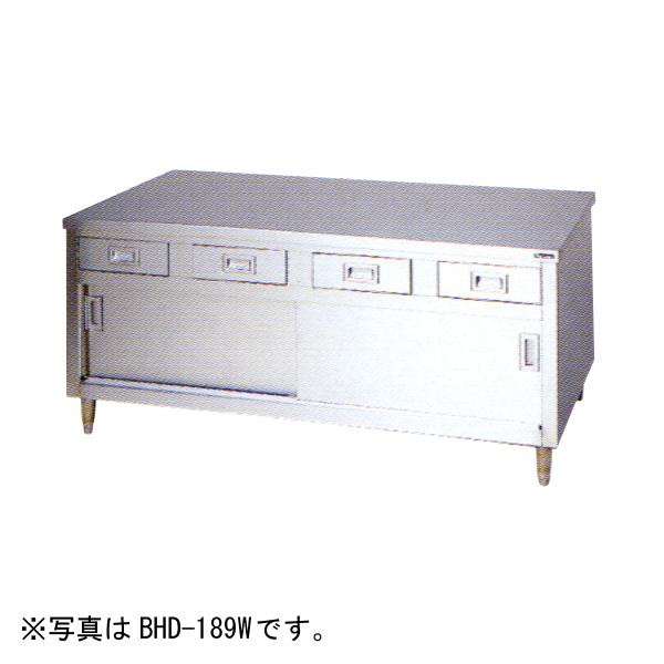 新品 マルゼン 引出し引戸付調理台(両面式)1800×900×800 BHD-189W
