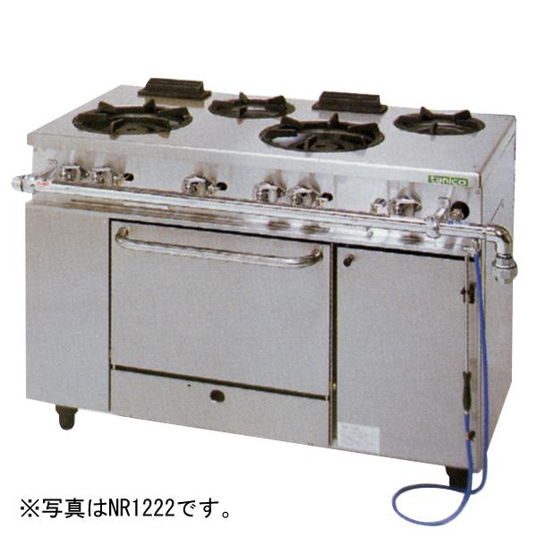 新品 タニコー ガスレンジ アルファーシリーズバーナ5口+オーブン2室(幅1500×奥行600×高さ800) NR1532