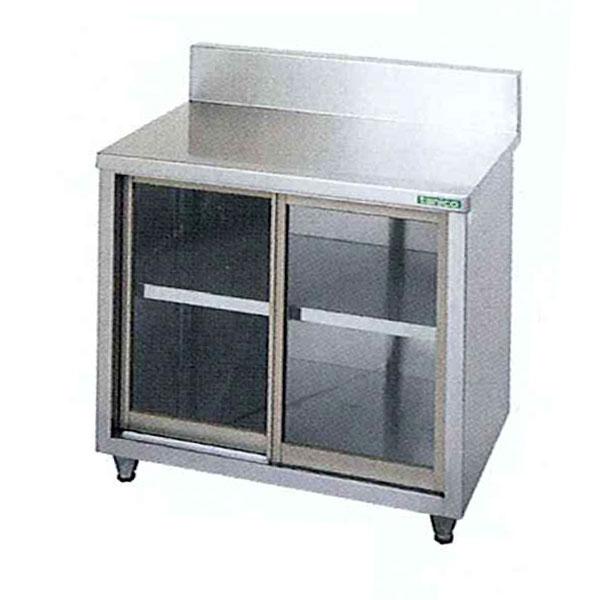 新品 タニコー ガラス戸式調理台(バックガードあり)900×600×800 TX-WCT-90G