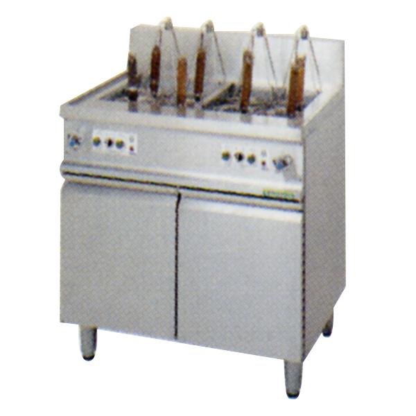 新品:タニコー 電気ゆで麺器 電子タイマー制御(オートリフトアップ式) TEU-8AL 2槽式 8フリザル[受注生産]