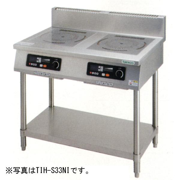 新品:タニコー 光るIHコンロ・スタンドタイプ(幅1200×奥行600×高さ800) 加熱出力3×2+5kWプレート数3 TIH-S335NI
