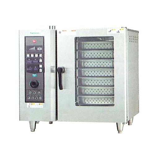 新品:タニコー電気式 ベーシックスチームコンベクションオーブン幅840×奥行730×高さ800(mm) 棚7段TSCO-61EBL