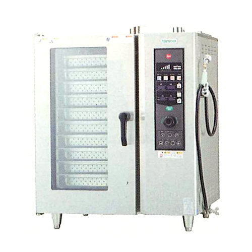 新品 タニコーガス式 ベーシックスチームコンベクションオーブン幅840×奥行730×高さ1030(mm) 棚10段TSCO-101GBCR