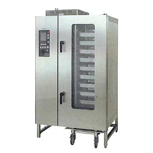 新品 タニコーガス式 デラックススチームコンベクションオーブン幅1100×奥行900×高さ1900(mm) 棚20段TSCO-20GDC