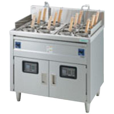 新品:タニコー 電気ゆで麺器 デラックスタイプ(デジタル温度調節器仕様) TEU-85DW 2槽式 12フリザル[受注生産]【 ゆで麺機 】【 ゆで釜 】