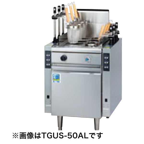 新品:タニコー 1槽式 角型自動ゆで麺器省エネ・オートリフトタイプ[6テボ]TGUS-50AL