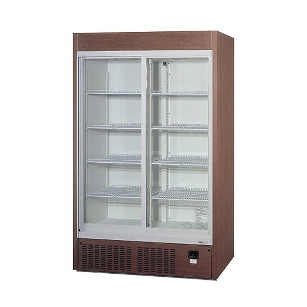 新品 パナソニックリーチイン冷蔵ショーケース スライド扉タイプ 424リットル幅1200×奥行450×高さ1900(mm)SRM-RV419SMB