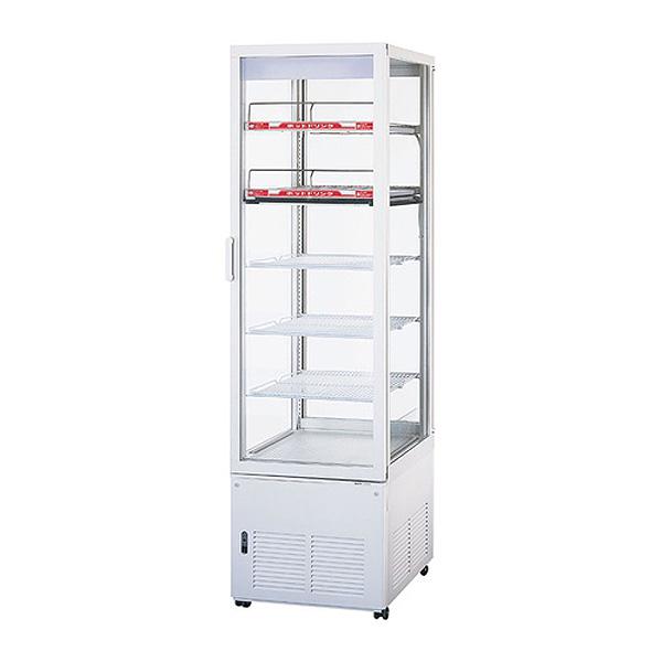 新品 パナソニックタテ型4面ガラス冷蔵ショーケース 冷蔵156リットル・温蔵62リットル パススルータイプ 幅510×奥行535+(46)×高さ1770(mm)SSR-281CH2N