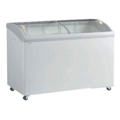 新品:パナソニック  冷凍ショーケース ( アイスクリームショーケース )SCR-PT126GJ 278リットル 曲面ガラスタイプ幅1250×奥行650×高さ890(mm)【 ショーケース 】【 冷凍庫 】