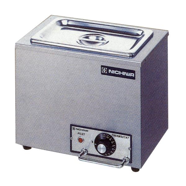 新品:ニチワ 電気卓上ウォーマー(湯煎式)ホテルパン1/4×1個 TEW-S