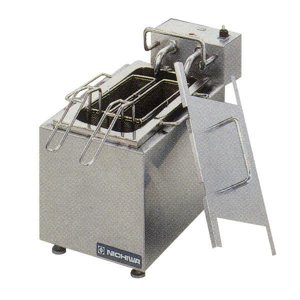 新品 ニチワ 電気ゆで麺器(卓上解凍ゆで槽) [テボかご2つ]200×420×250 ENB-200