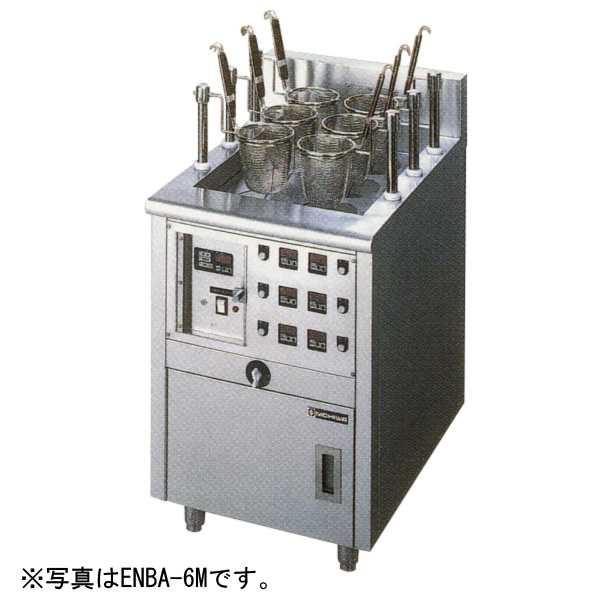 Nichiwa electric automatic cooked noodle device (auto mobile-lift type)  [circle テボ four] 550*600*800 ENBA-4M