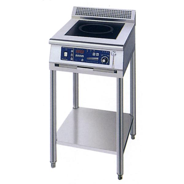 新品 ニチワ IHコンロ(電磁調理器) スタンドタイプ(1連)450×600×800 MIR-3SA-N