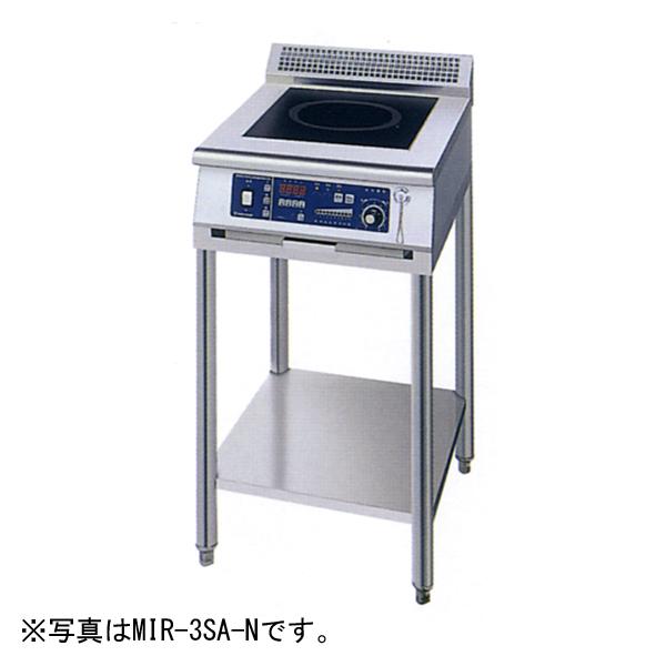 新品 ニチワ IHコンロ(電磁調理器) スタンドタイプ(1連)450×750×800 MIR-3SB-N