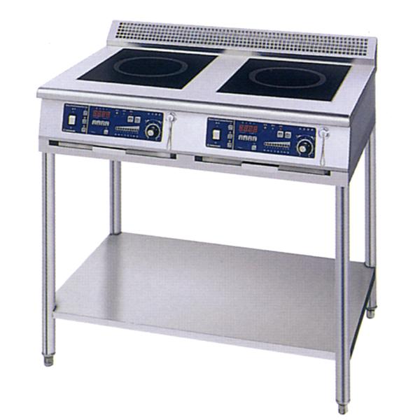 新品 ニチワ IHコンロ(電磁調理器) スタンドタイプ(2連)900×600×800 MIR-1033SA-N