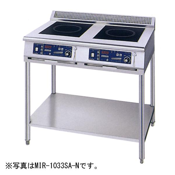 新品 ニチワ IHコンロ(電磁調理器) スタンドタイプ(2連)900×600×800 MIR-1055SA-N