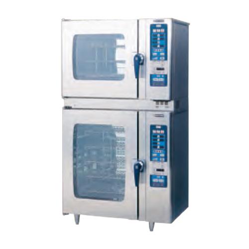 新品 ニチワ スチームコンベクションオーブン RHシリーズ スタンダードタイプ SCOS-61010RH-R(L)2段積タイプ幅1035×奥行750×高さ1865(mm)【 スチコン 】【 オーブン スチーム 】