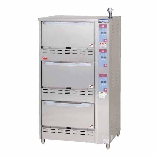 ガス立体自動炊飯器   750間口×700奥行×1350高さ(mm) MRC-S3D   マルゼン   メーカー保証+当店特別保証 合計2年保証付き!