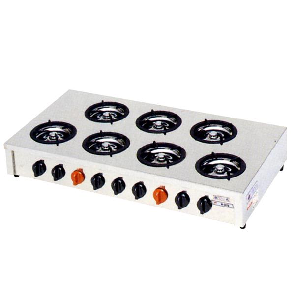 新品:マルゼン 小口多目的ガステーブルコンロ飯城シリーズ(7口コンロ) M-607C