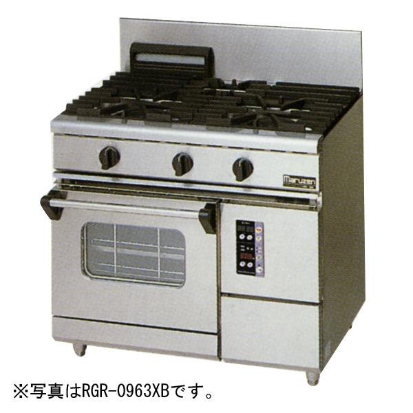 新品:マルゼン ガスレンジ NEWパワークックシリーズ幅900mm2口コンロ+1オーブン RGR-0962XC