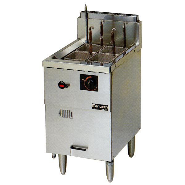 新品:マルゼン 1槽式 ガス式冷凍麺釜 [ゆでカゴ4つ]MRF-046C