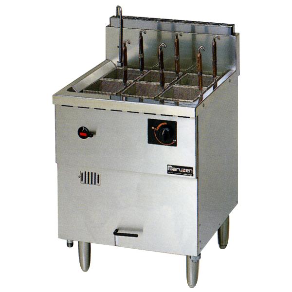 新品:マルゼン 1槽式 ガス式冷凍麺釜 [ゆでカゴ6つ]MRF-066C