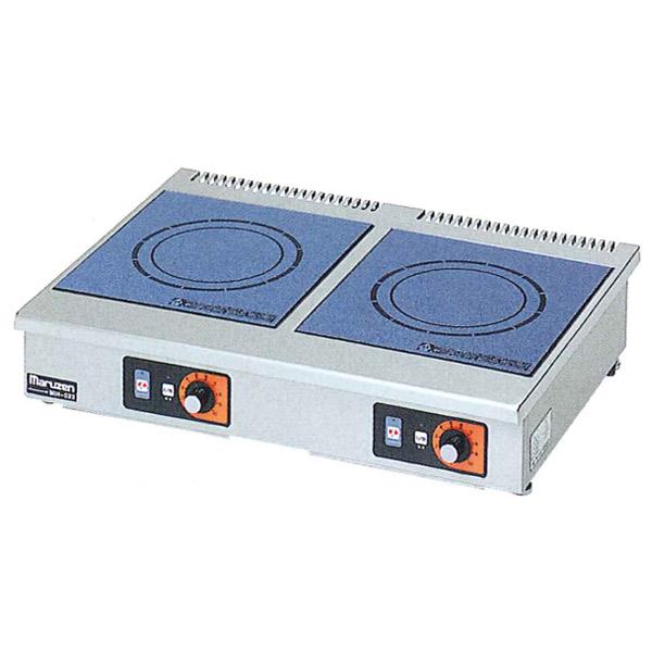 新品 マルゼン IHクリーンコンロ卓上型(電磁調理器)600×450×120 MIH-22C