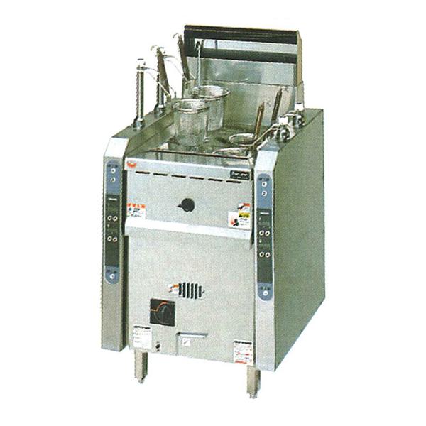 新品:マルゼンガス式涼厨自動ゆで麺機[ゆでカゴ4つ]幅600×奥行600×高さ800(バック+150)(mm)MRY-CL04