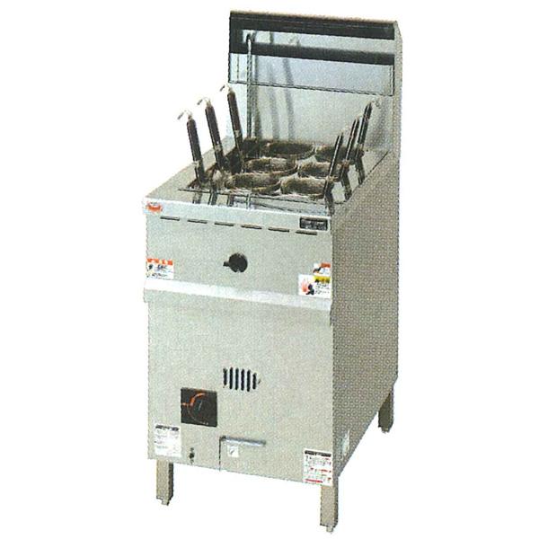 新品:マルゼンガス式涼厨角槽型ゆで麺機[ゆでカゴ6つ]幅450×奥行700×高さ800(バック+150)(mm)MRY-C06