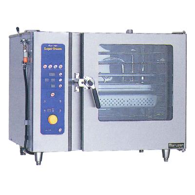 新品:マルゼン 電気式スチームコンベクションオーブンスーパースチーム スタンダードシリーズ幅1030×奥行750×高さ840(mm)スタンダードモデル 洗浄機能付SSC-C06SCNU