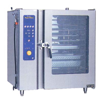新品:マルゼン 電気式スチームコンベクションオーブンスーパースチーム スタンダードシリーズ幅1030×奥行750×高さ1100(mm)スタンダードモデル 洗浄機能付SSC-C10SCNU