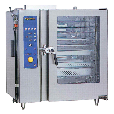 新品:マルゼン ガス式スチームコンベクションオーブンスーパースチーム スタンダードシリーズ幅1030×奥行750×高さ1100(mm)洗浄機能付SSCG-C10SCNU
