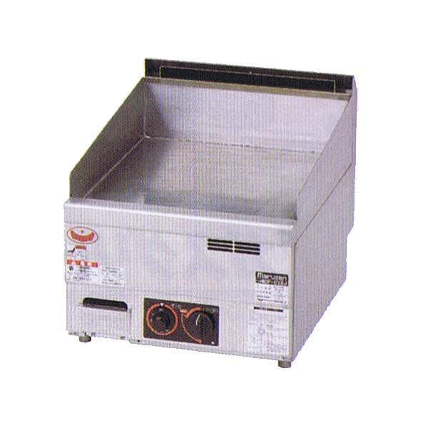 新品:マルゼン 卓上ガスグリドル(サーモスタット付) 450×600×300 MGG-046TB