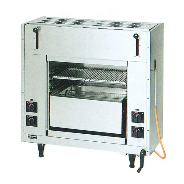 新品:マルゼン 両面式焼物器ガス赤外線バーナータイプ MGKW-083