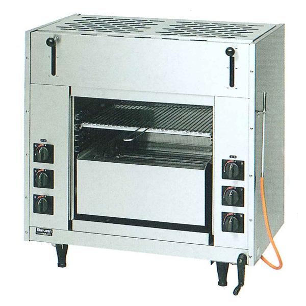 新品 マルゼン 両面式焼物器ガス赤外線バーナータイプ MGKW-084