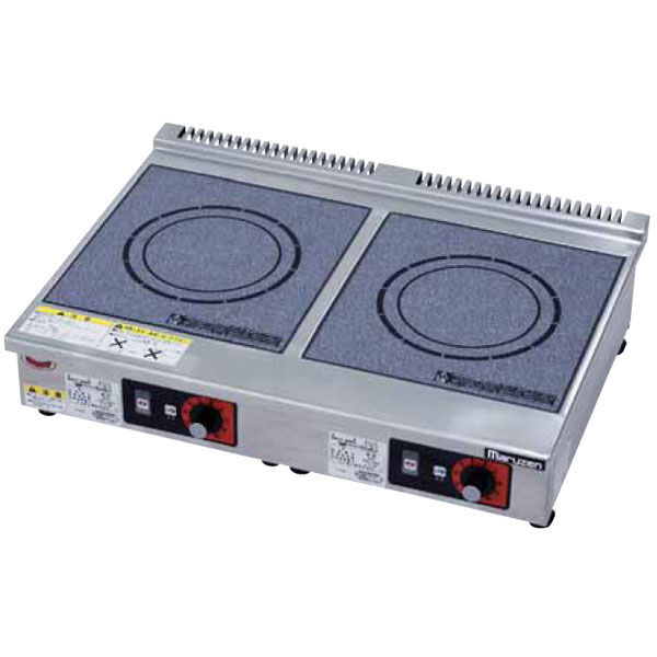 新品 マルゼン IHクリーンコンロ卓上型(電磁調理器)600×490×145 MIH-3S3SC