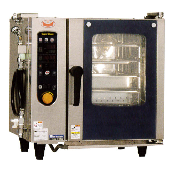 新品:マルゼン 電気式スチームコンベクションオーブン スーパースチーム スタンダードシリーズ 幅600×奥行500×高さ620(mm) SSC-04MSD