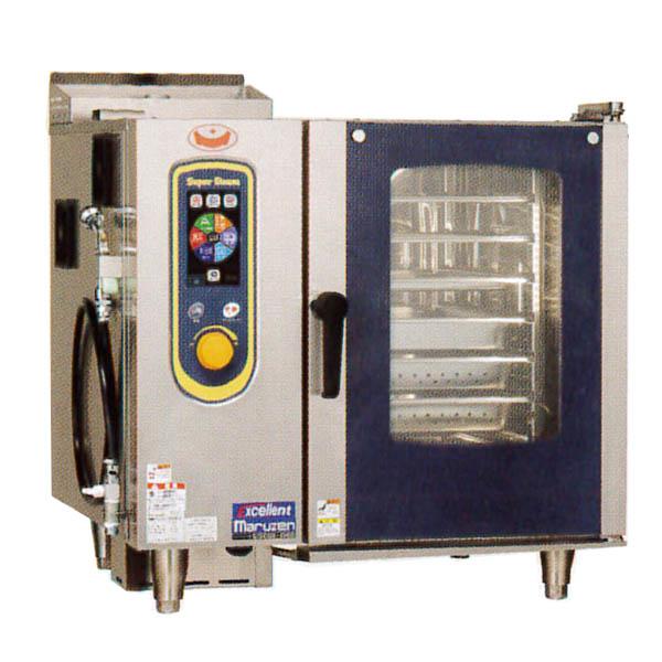 新品:マルゼン ガス式スチームコンベクションオーブン 低輻射ガススーパースチーム エクセレントシリーズ 幅845×奥行775×高さ820(mm) SSCGX-06D